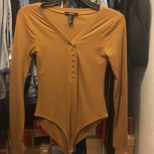 Brown Long Sleeve One Piece